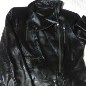 GILI LEATHER MOTO JACKET - BLACK